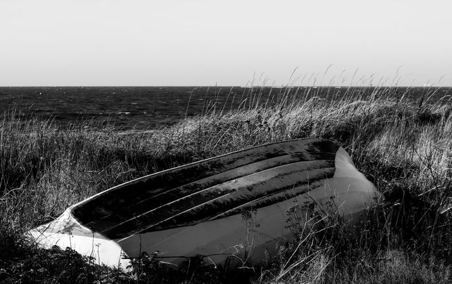 Beach Beautiful Black & White Black And White Blackandwhite Blackandwhite Photography Boat Clear Sky Day Diminishing Perspective Horizon Horizon Over Water Landscape Leading Long Mystery No People Ocean Outdoors Remote The Way Forward Tranquil Scene Tranquility Transportation Vanishing Point