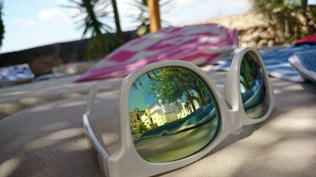 #lazy Finca #mallorca #mirror Focus On Foreground Outdoors Palm Tree Sunglasses Sunlight Break The Mold Live For The Story
