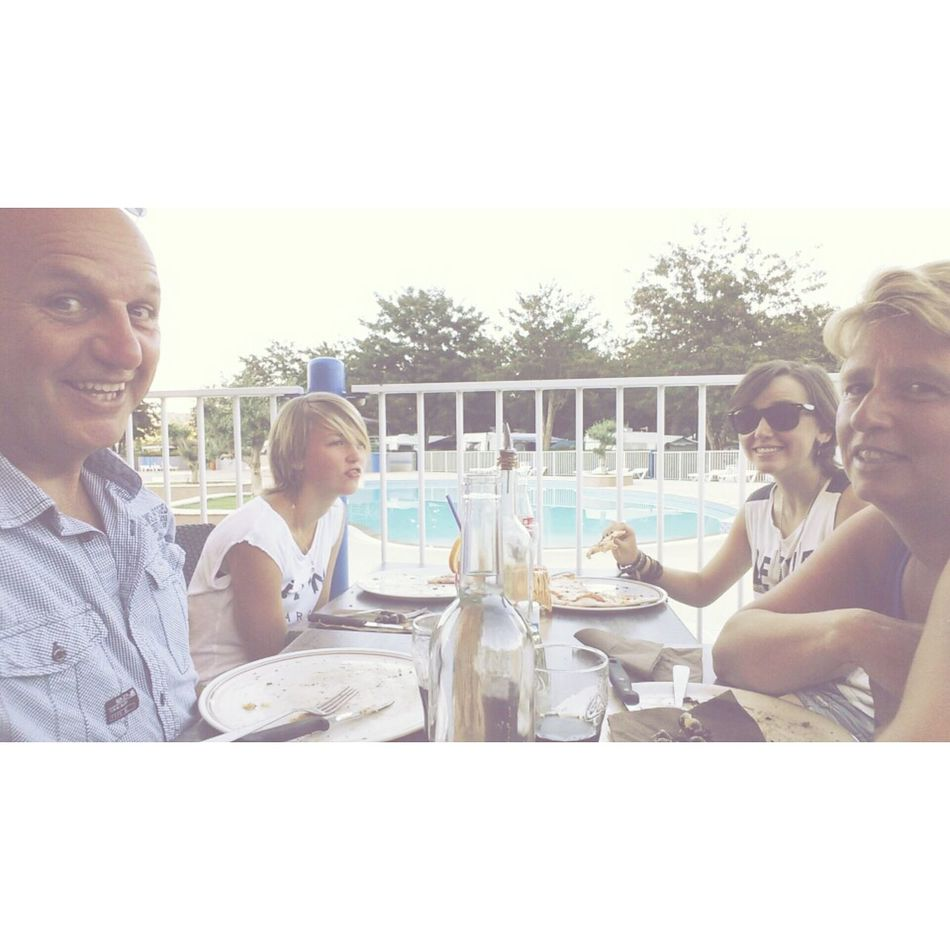 Relaxing Enjoying Life Pizza Food France Swimming Pool Sunny Family Happy