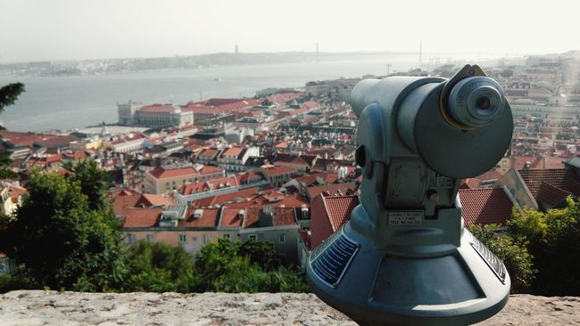 City View  City Landscape Castle View  View From The Wall View From The Castle Castelo De São Jorge Walking On The Wall Portugal Lisbonne Lisbona Lisboa Castelo Lisbon Travel Photography Castelosdeportugal Castle Walls Castle Bird Eyes View River View Lisbonview Rio Tejo City