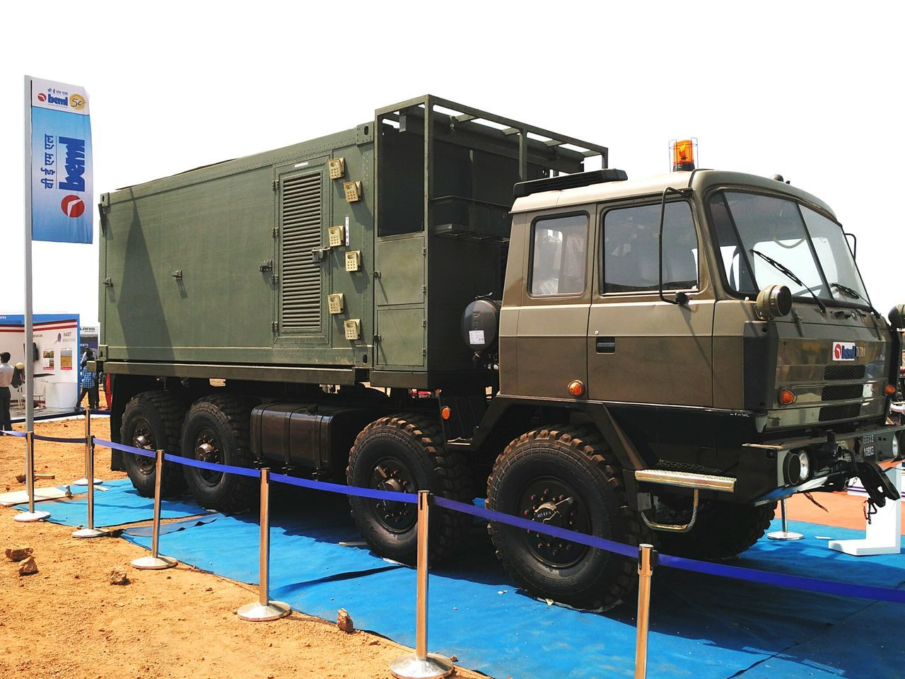 Army Truck kept for display at Defexpo India 2016 in Goa. Defexpo Defexpogoa2016 Defence Exposition Indian Army Army Army Truck Beml Automobile Engineering Vehicle Exterior Outdoors Truck