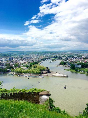 Deutsches Eck Wilhelm Rhein Mosel Seilbahn Tourism Tourismus Koblenz