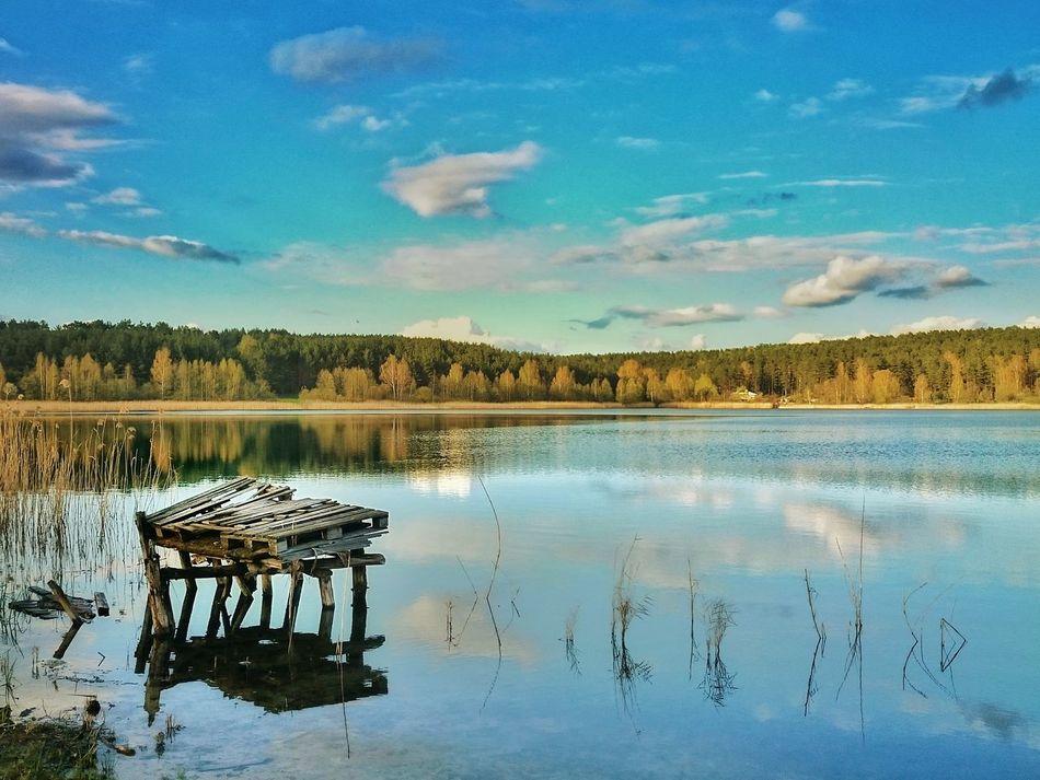 Sky Reflection Cloud - Sky Scenics Water Lake Nature Beauty In Nature Outdoors No People Day Blue Travel Trip Olsztyn Warmia Poland Jezioro