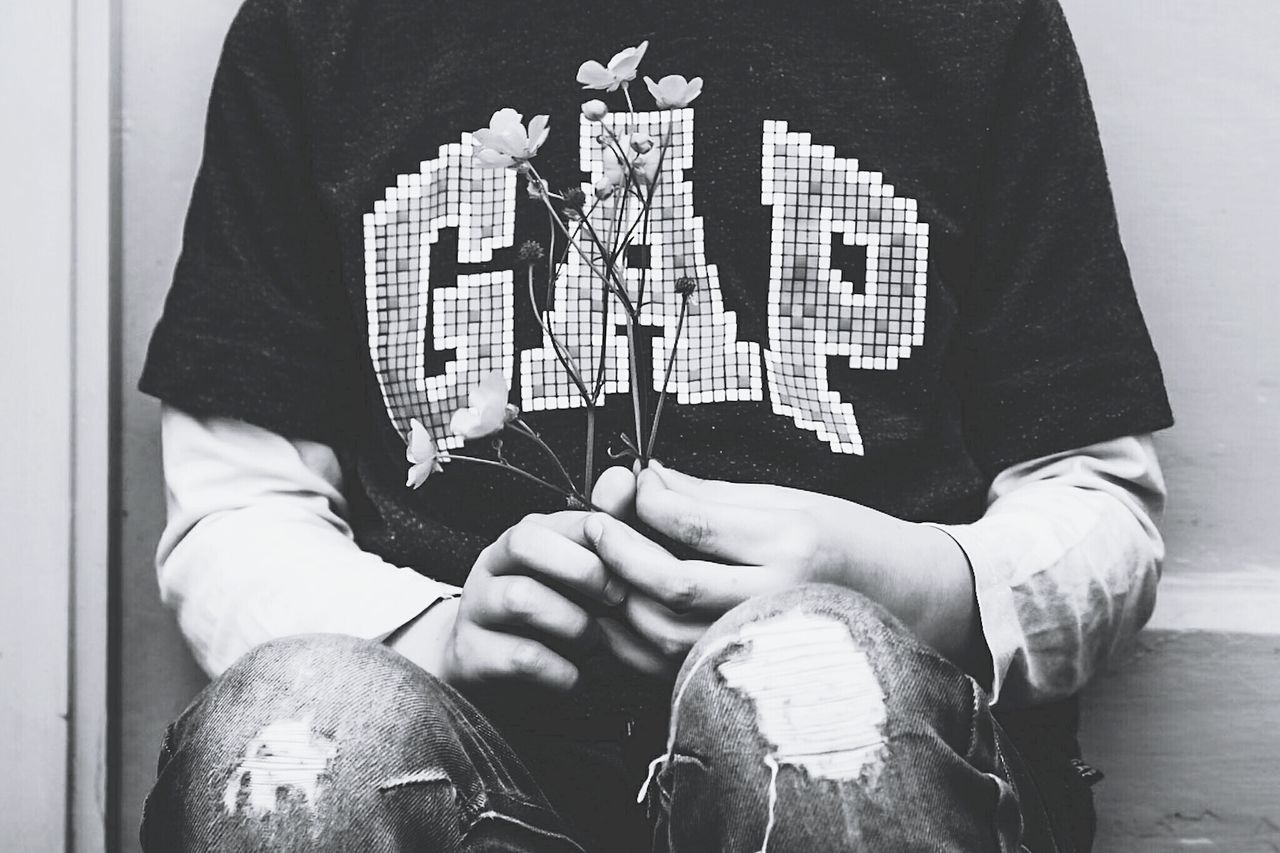 One Person Midsection Human Body Part Lifestyles Close-up Real People Day Human Hand Gap Ripped Jeans Buttercups Flower Childhood Lauraloophotography
