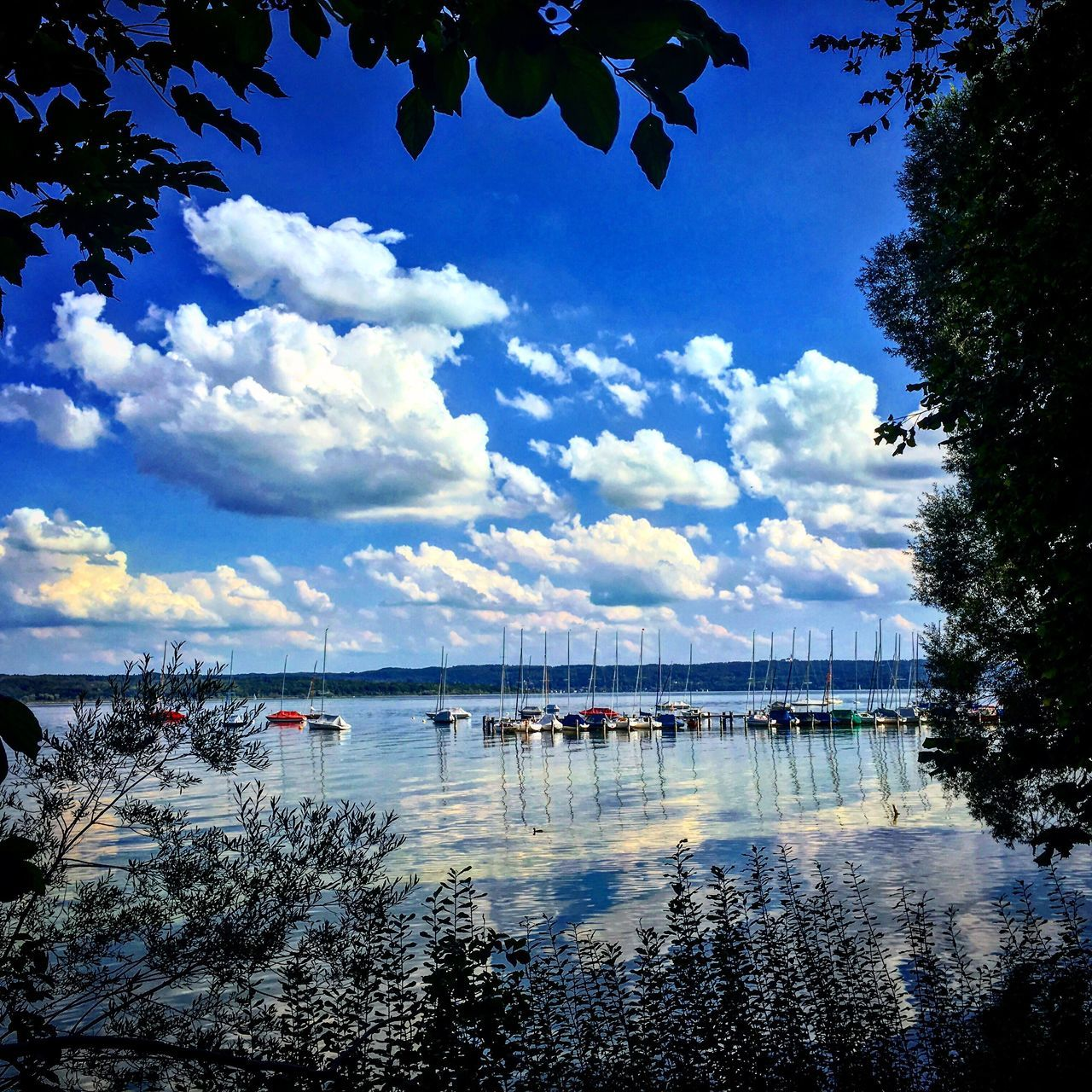 Water Sky Cloud - Sky Blue Sailboat Nature