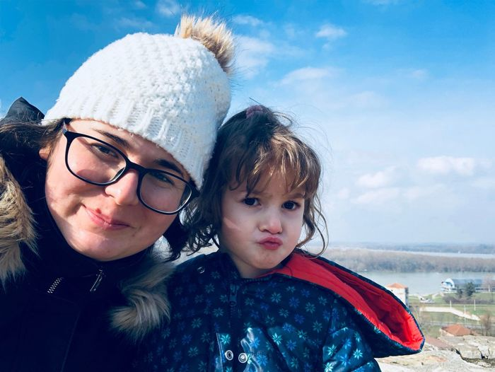 Sava River Eyeglasses  Childhood Child Girls Togetherness Mother Family Portrait Sky Family With One Child Real People Cute Boys Leisure Activity Bonding Day Daughter Happiness Lifestyles Smiling