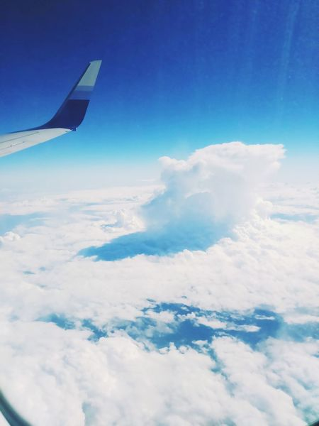 From An Airplane Window Enjoying The View Taking Photos Travelling Alone