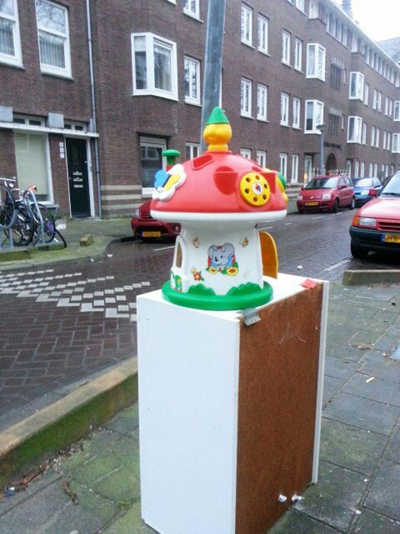 Paddo's in Amsterdam keep popping up. Fotofantast Mushroom City Streetphotography Amsterdam Mushroom Giant Buttplug Reinier Claeszenplein Toy Toy Photography Photography