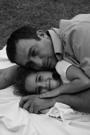Love Togetherness Lying Down Childhood Family With One Child Child Mid Adult Baby Adult Affectionate Bonding Mid Adult Men People Lying On Back Indoors  Happiness Men Bed Cheerful Day Father And Daughter Fatherday ❤ Fatherlove Father And Daughter Time
