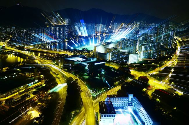 Capturing Motion Night Illuminated City Cityscape Lighting Equipment Night Photography Tadaa Community Hong Kong Discoverhongkong Long Exposure Urban Exploration High Angle View