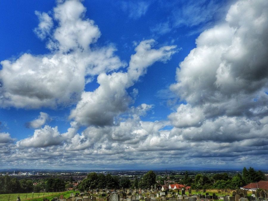 View over my town Landscape Nature Distant View Clouds And Sky Sky Town Warrington, England Trees Landscape_photography Landscapes