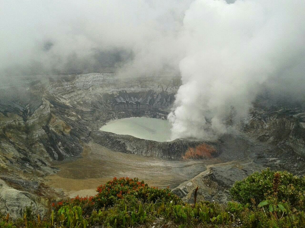 Aerial View Of Volcanic Crater