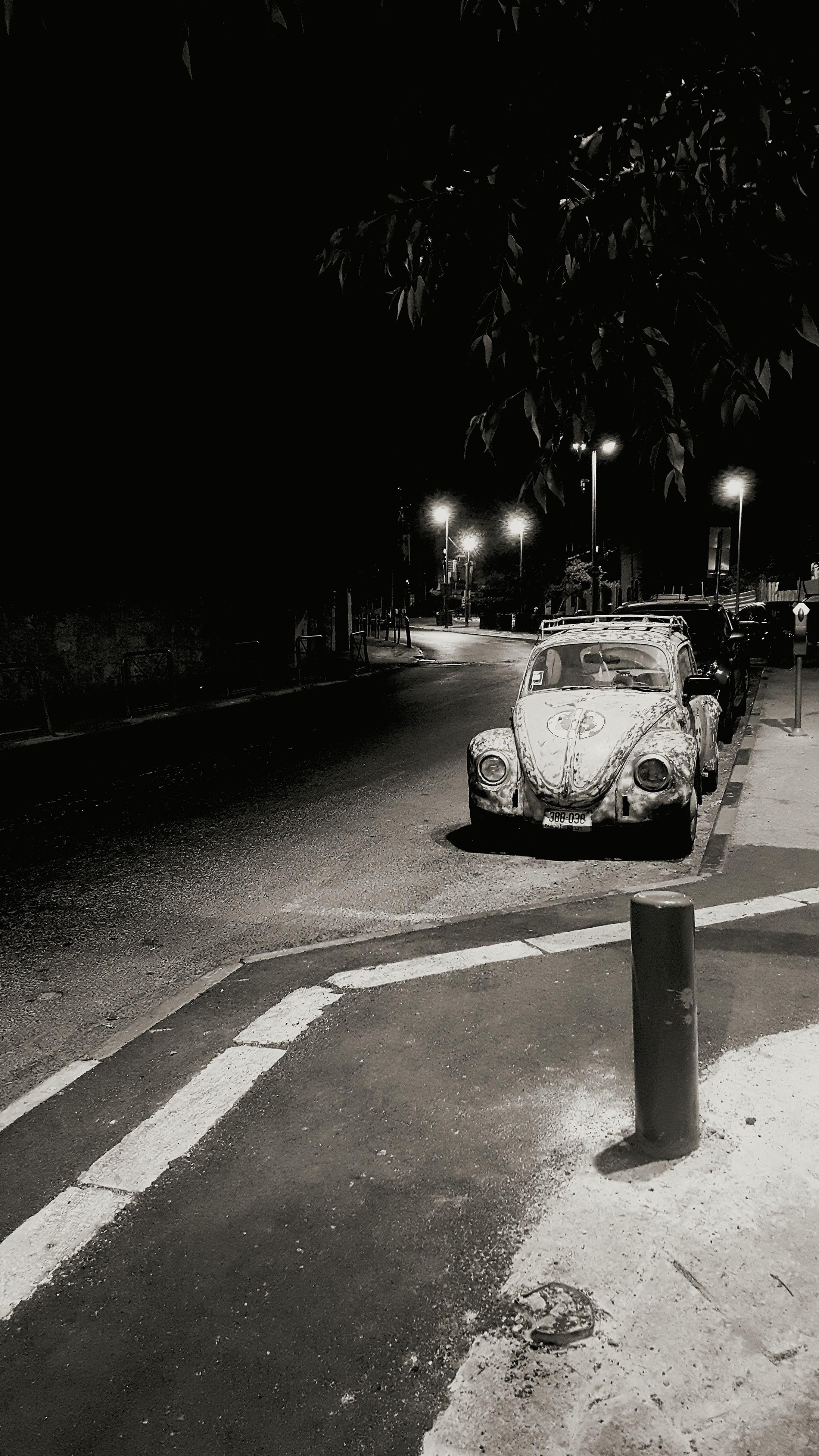 night, illuminated, road, street light, outdoors, dark, the way forward, no people, nature, empty, tranquility, sky, tranquil scene
