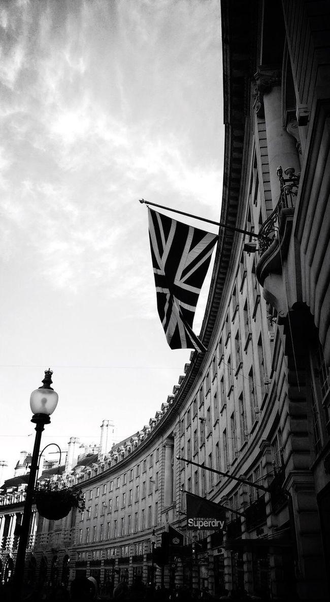 LONDON London United Kingdom Regentstreet Flag Street Photography Holiday