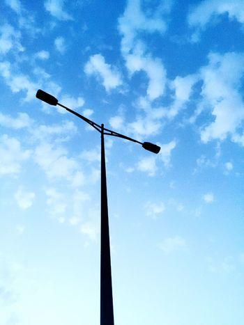 Streetphotography Sky And Couds Streetlight Hanging Around Eyeemstreetphotography
