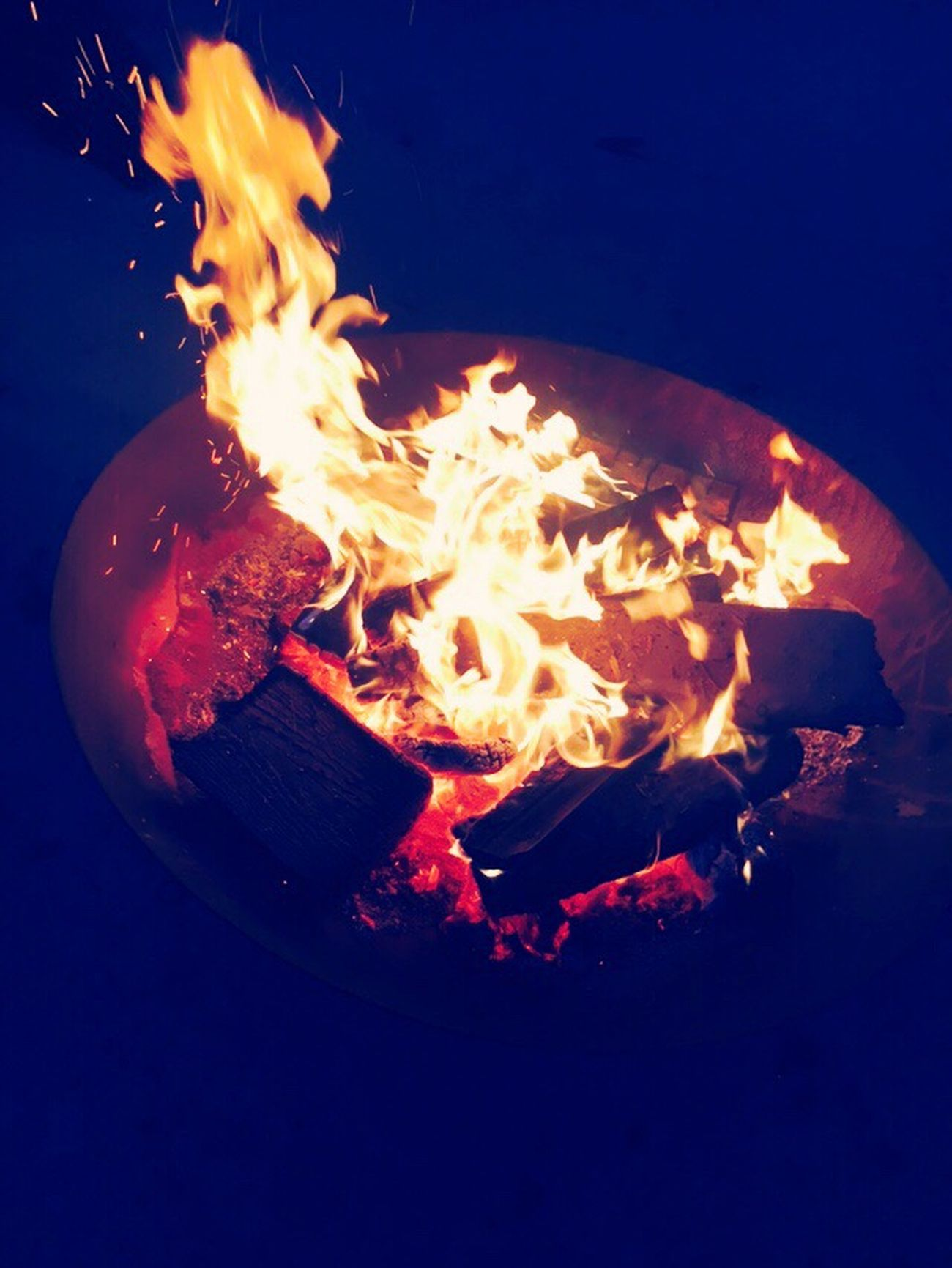 Flame Heat - Temperature Fire - Natural Phenomenon Burning Fire Pit Hot Night Outdoors