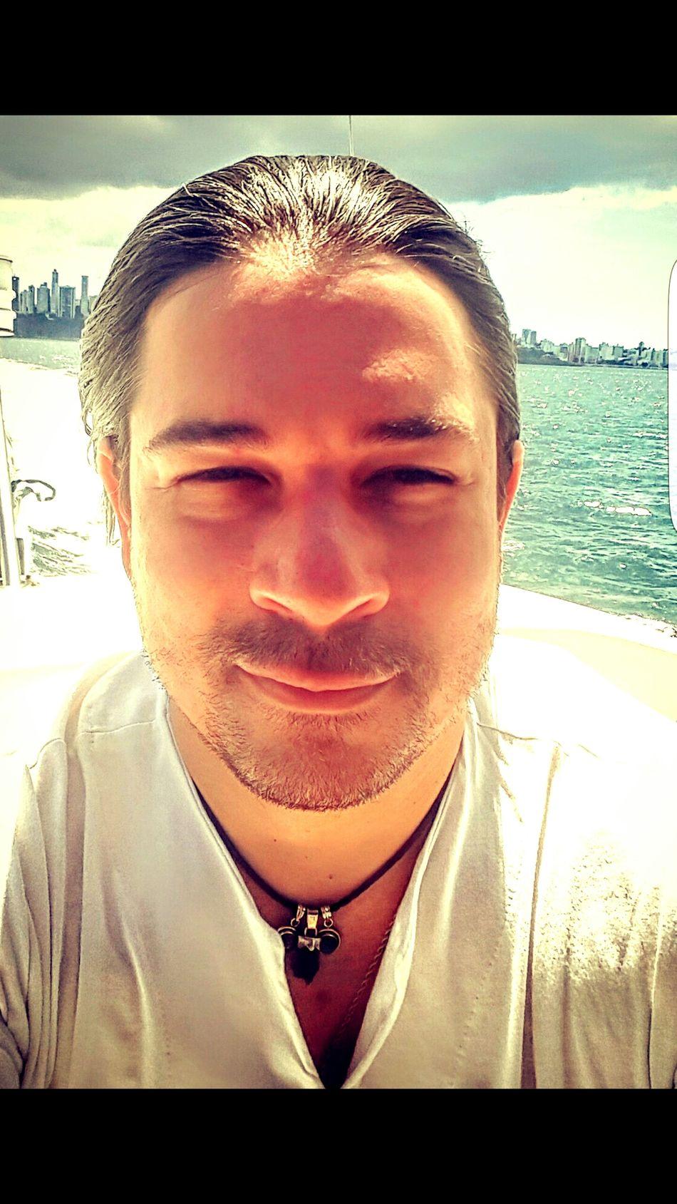 Portrait Only Men Sun Sea Beach