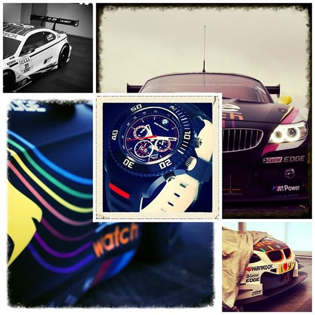 Icewatch Bmw Vds DTM motorsport marc racingteam watch time часы время collage black