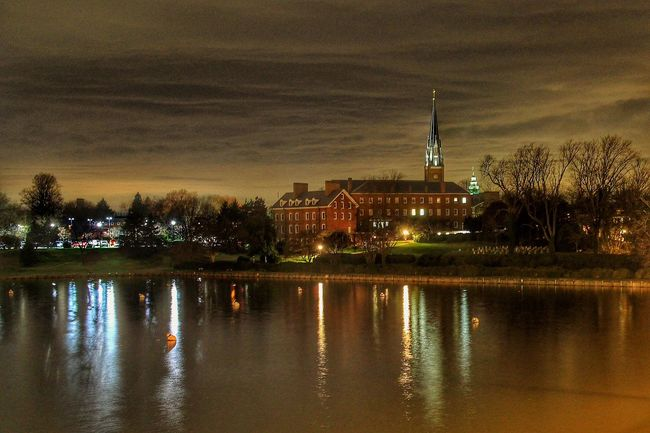 Annapolis AnnapolisMaryland St Mary's Nightphotography Old Church Waterfront Steeple