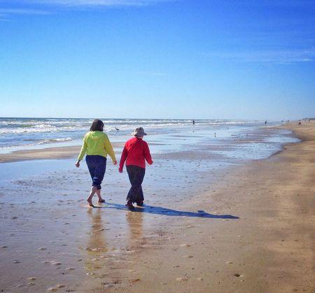 Beach stroll Beach Beach Photography Couple Walking Walking Together Stroll Sand Seashore Outdoors