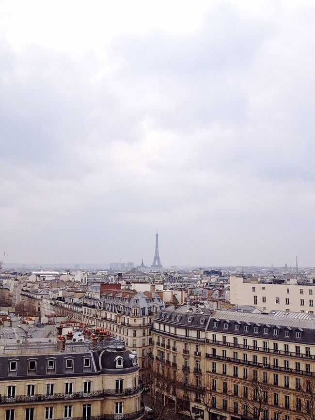 Little pleasures in life: a 2€ coffee with this amazing view. Urbanity Urban Architecture Cityscapes Aerial Shot Aerial View Of Paris Eiffel Tower Landmark Outdoors Skyline Paris Skyline Your Design Story Your Ticket To Europe