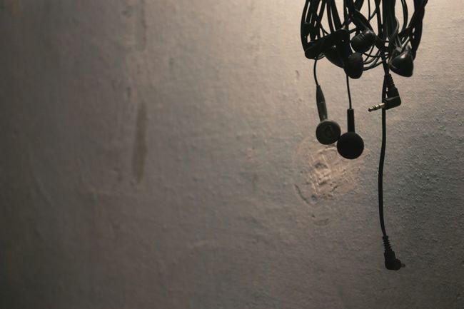 Bunch Earphones Wires Jacks Wall Novokuznetsk Kuzbass Siberia Russia