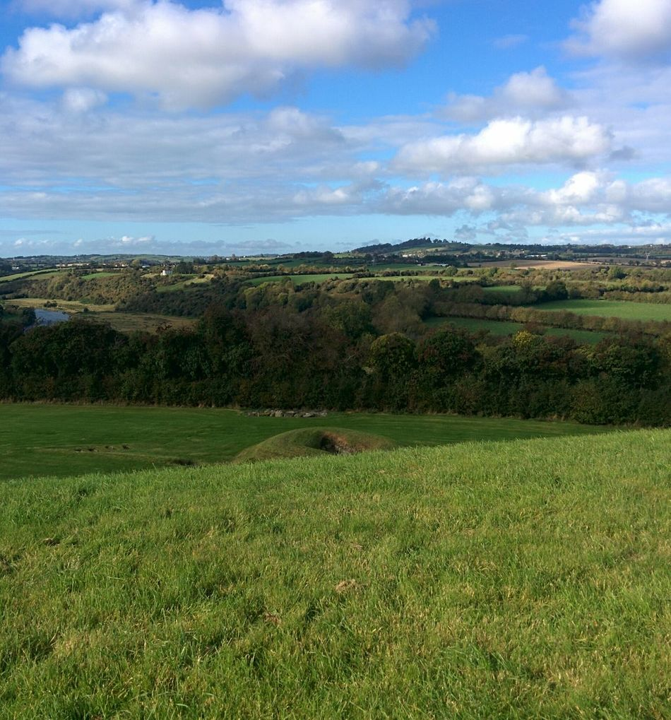 Co. Meath, Ireland Cloud - Sky Sky Green Color Agriculture Nature Tree Grass Landscape Rural Scene Growth Scenics No People Outdoors Beauty In Nature Day Historic Historical Place Prehistoric Prehistoric Monument Cloud Clouds And Sky Clouds Miles Away
