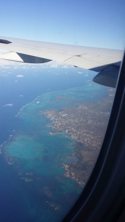 Reef Mauritius From An Airplane Window Wooow