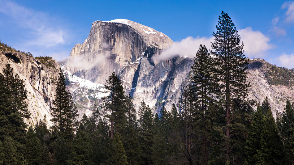 Half Dome Beauty In Nature Beauty In Nature Cloud - Sky Cold Temperature Day Enjoying Life EyeEm Best Shots EyeEm Nature Lover Forest Hanging Out Hello World Landscape Low Angle View Mountain Mountain Range Nature No People Outdoors Scenics Sky Snow Tranquil Scene Tranquility Tree Winter