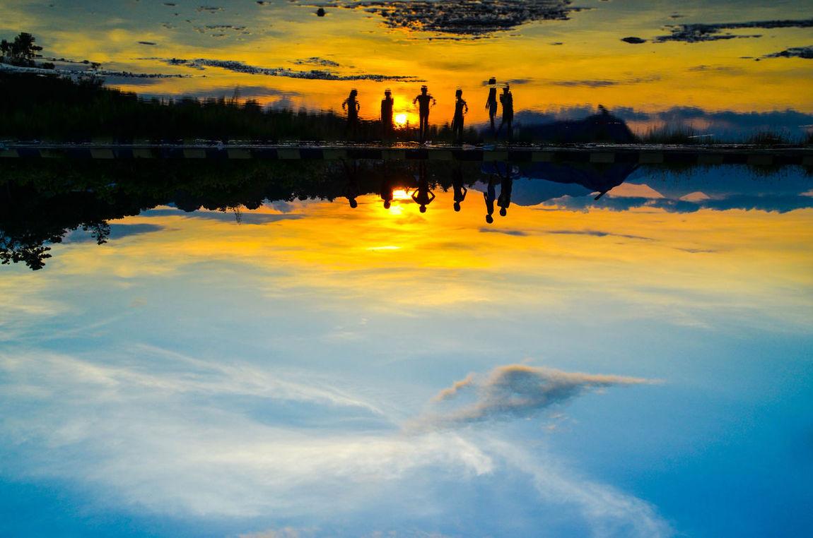 Reflexions Water Nature_collection Landscape_Collection Landscape Sunset Children's Portraits Children_collection Child Photography Silhouette Indonesia Photography  Florestimur