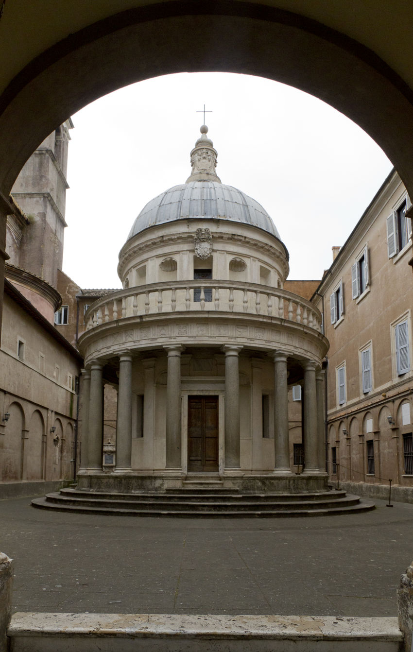 Arch Architectural Column Architectural Feature Architecture Bramante Built Structure City Classic Classic Buildings Day Dome Exterior Façade Historic History Monument No People Ornate Outdoors Round Building Sky Tempietto Tourism Travel Destinations Classical Your Ticket To Europe