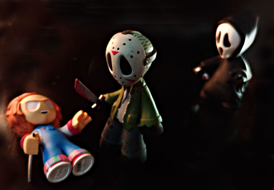 Chucky vs jason vs ghostface Toy Funko Jasonvoorhees Childsplay Chucky Ghostface TakeoverContrast