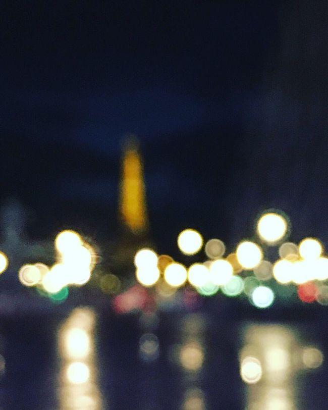 """Champagne et Paris"" Illuminated Defocused Night City Sky Architecture City Life Outdoors Multi Colored No People Eiffel Tower Torre Sober  Drunk Paris France"