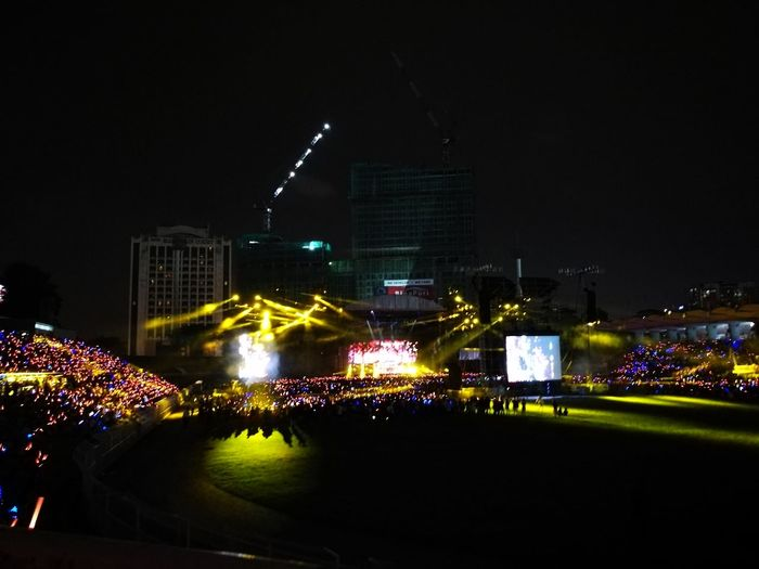 Night Illuminated City Popular Music Concert Building Exterior Outdoors Architecture Travel Destinations Skyscraper Built Structure Nightlife No People Cityscape Urban Skyline Sky Concert Mayday2017 Stage Light Mayday  Rock Music Crowd Maydaylifetour City Music People