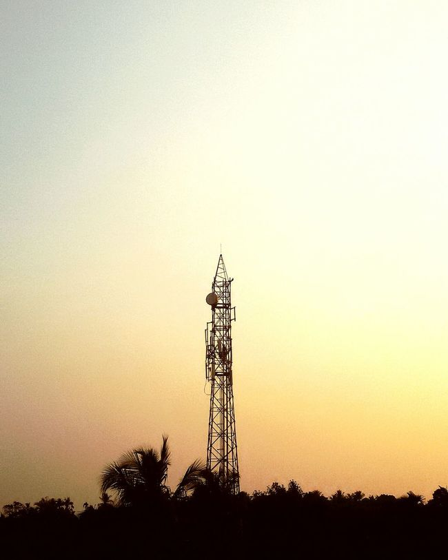 Sunsets In India Mobile Tower First Eyeem Photo