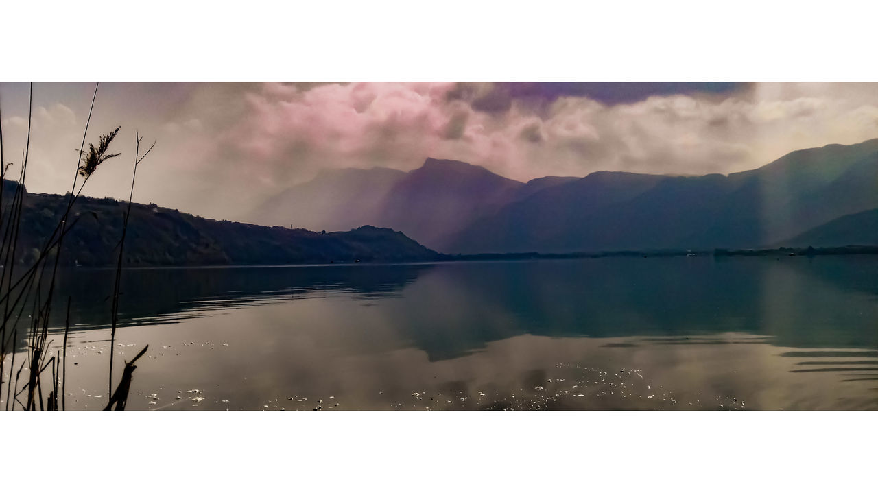 V I O L E T L A K E . Mountain Reflection Nature Scenics Outdoors Lake Landscape Sky Mountain Range Panoramic Violet Clouds Tranquility Cinematic Cinescope Photography Travel Vibe Italy Trentino  The Great Outdoors - 2017 EyeEm Awards EyeEmNewHere Live For The Story