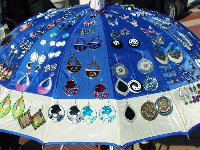 Art And Craft Blue Creativity Genova Hanging Jewelry Orecchini Street Market Sunday Walking Around Walking Around The City
