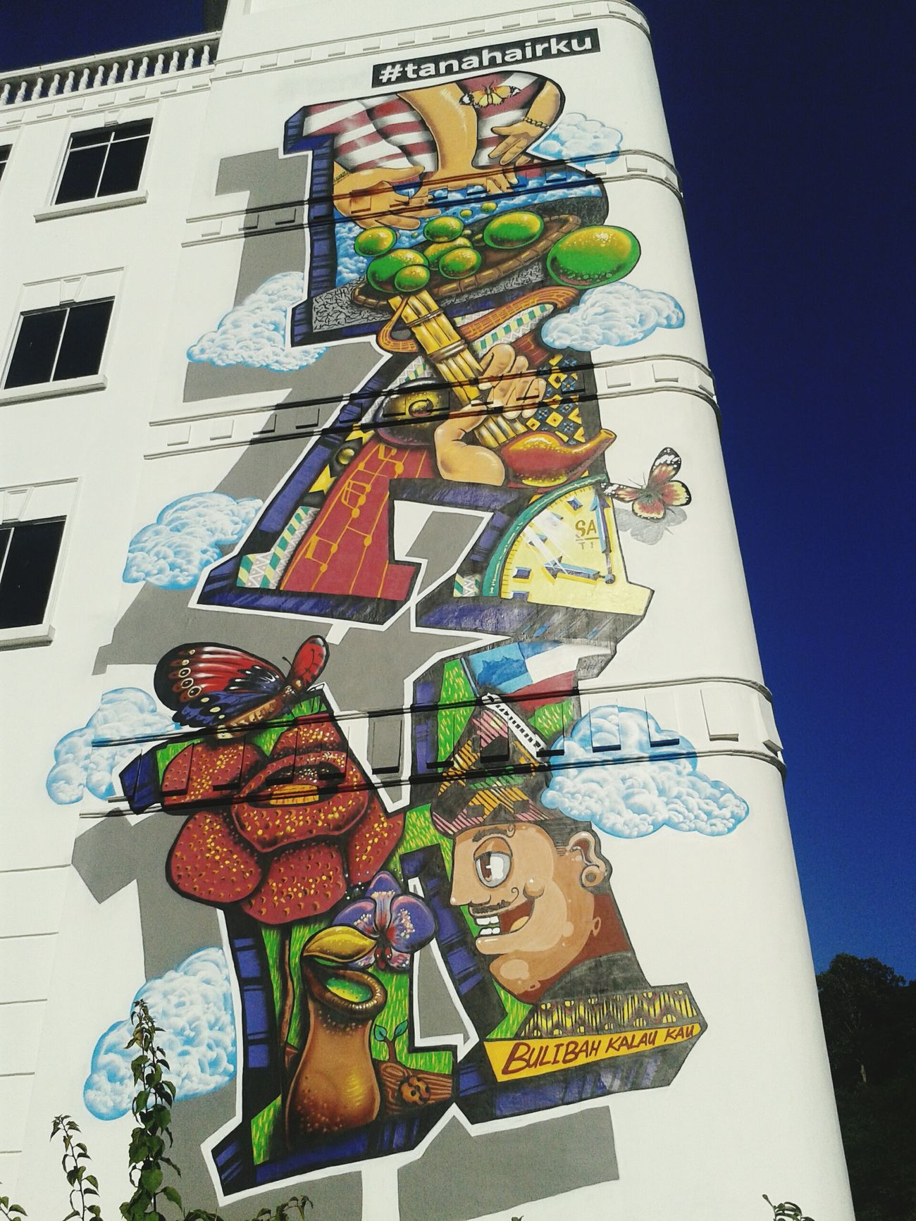 Ok bah! Mobile Photography S3mini Urban Art Building Architecture Kota Kinabalu Sabah Malaysia Graffiti Art Culture Art Culture Diversity