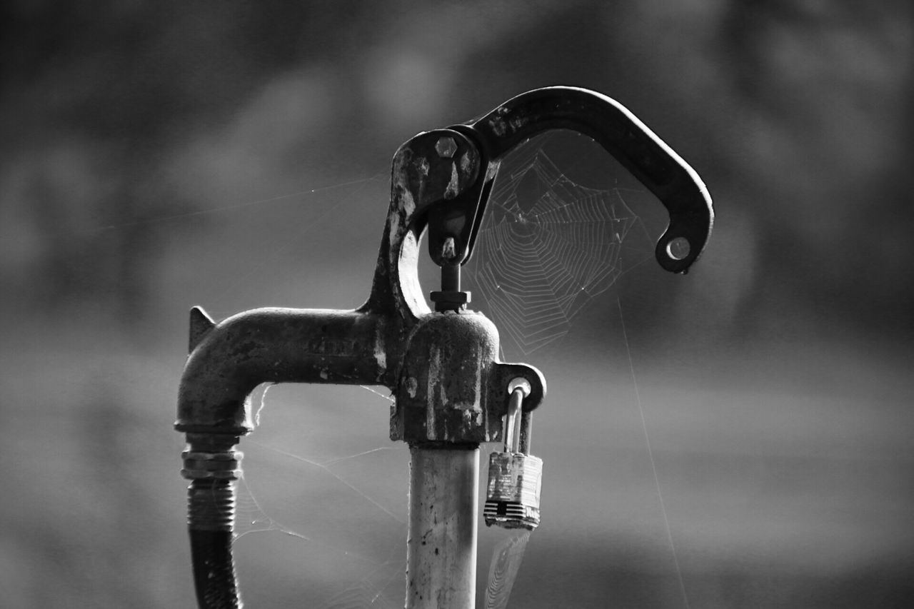 EyeEm Selects Black And White Black And White Photography Metal Focus On Foreground Close-up No People Day Outdoors Faucet Water Tap First Eyeem Photo