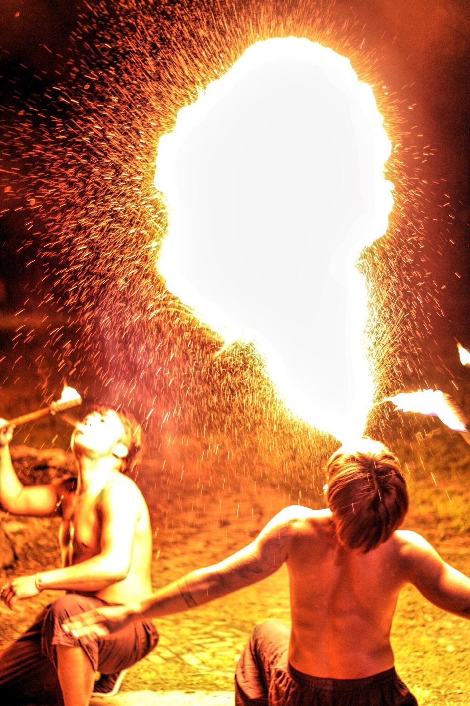 The Awesome Show Check This Out Campfire Party Hit The Paradise Eruption Planting