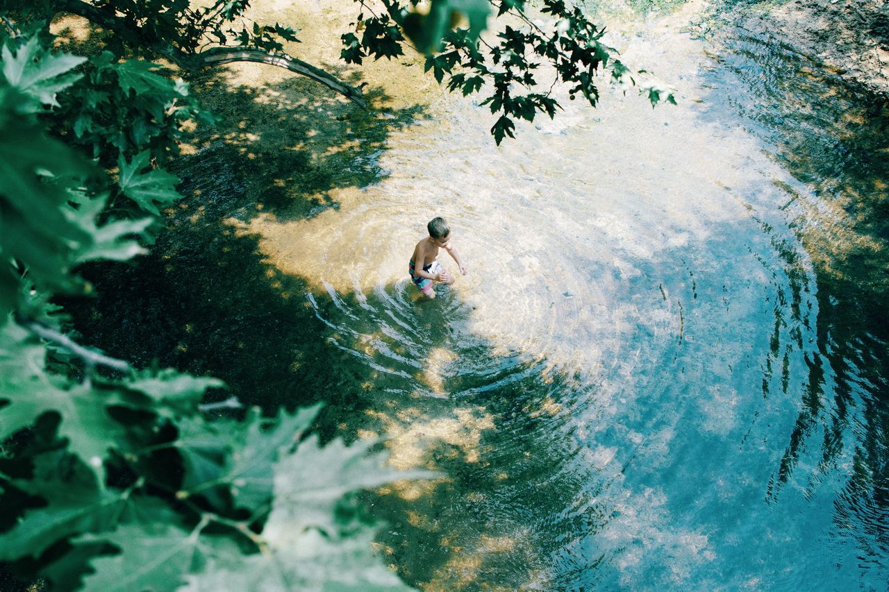 Adult Adults Only Adventure Challenge Climbing Day Extreme Sports Full Length High Angle View Leisure Activity Nature One Man Only One Person Only Men Outdoors People Real People Sport The Great Outdoors - 2017 EyeEm Awards The Street Photographer - 2017 EyeEm Awards Tree Water