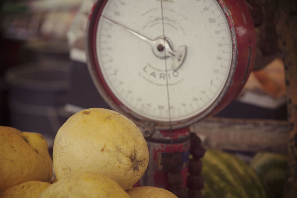 Weighing the Vitamins Close-up Day First Eyeem Photo Food Food And Drink Freshness Fruit Grapefruit Healthy Eating Indoors  No People Scales