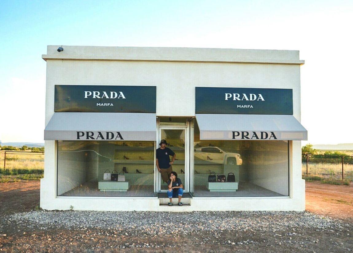 Marfa Prada art piece outside of Valentine, Tx Prada Art ArtWork Prada Marfa Marfa Texas My kids posed for me. Like always.
