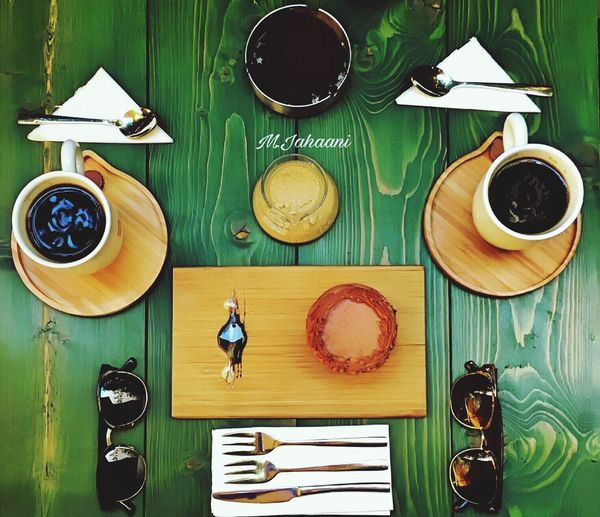 Green love 😍 Food And Drink High Angle View Table Day Coffee Time Coffe Bestshot Tea Cup Ready-to-eat Green Color