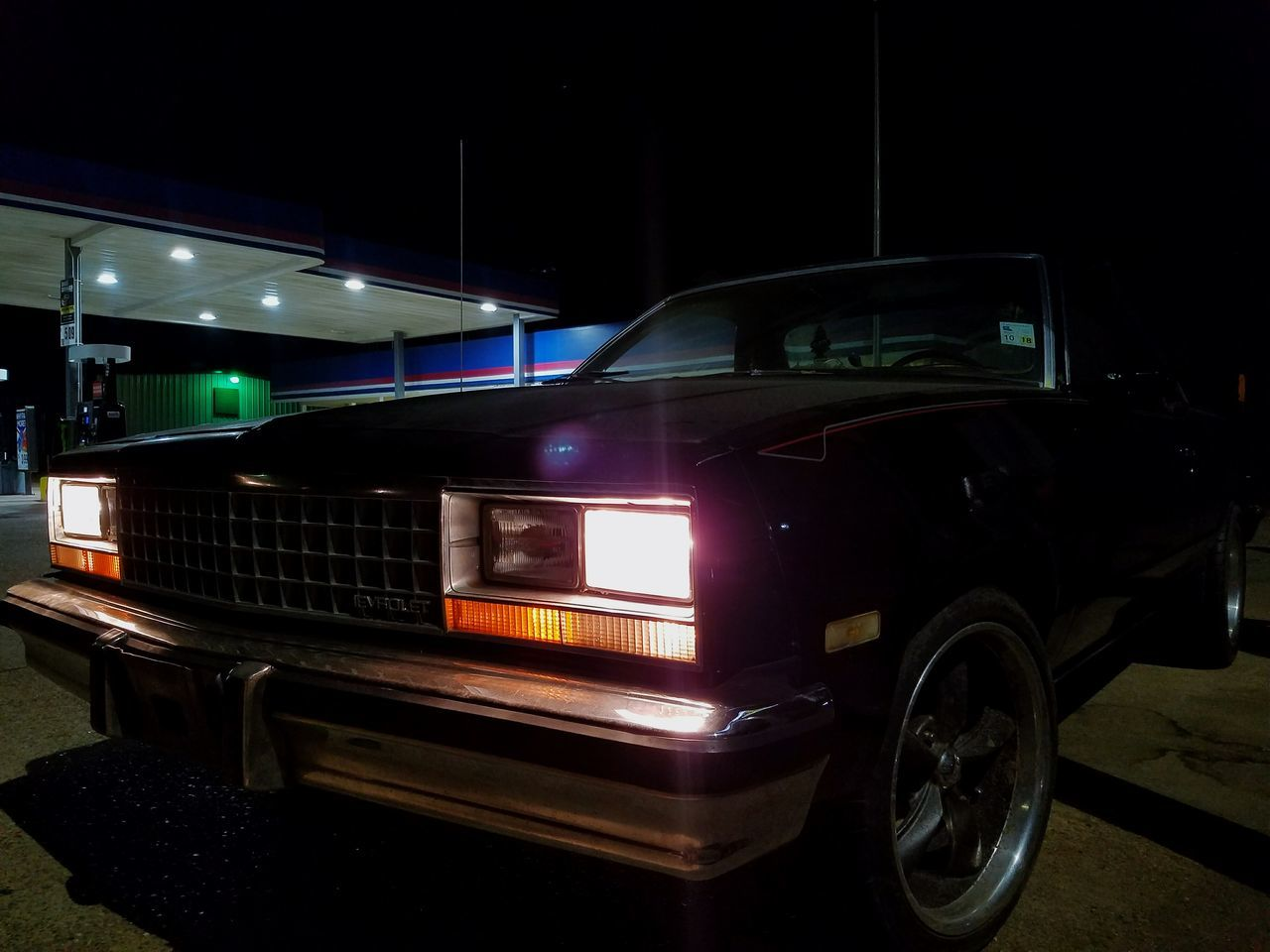 Night Car Illuminated Transportation No People Parking Garage Indoors  El Camino Elcamino Cars Old Car Lieblingsteil
