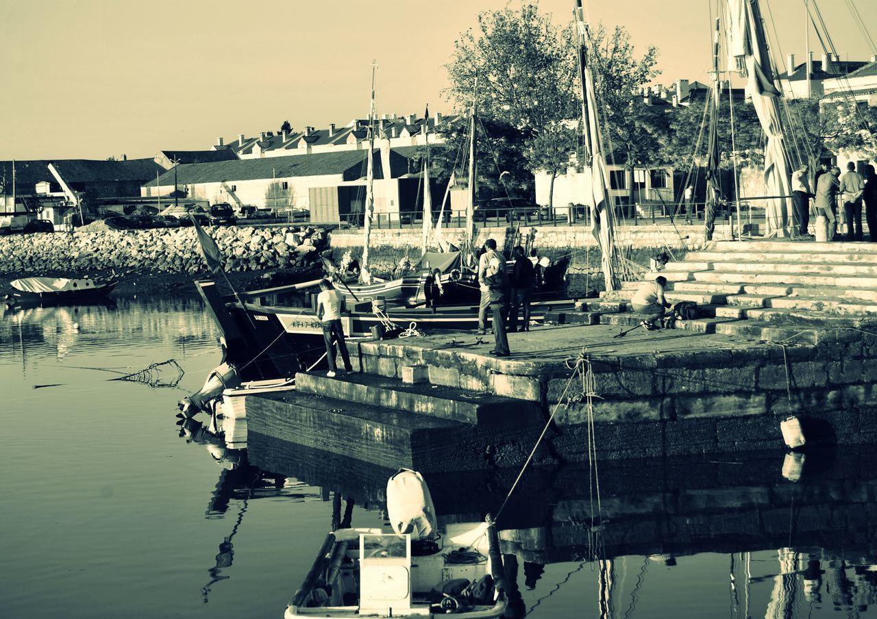 Wharf Cais Portugal Fisherman Pescadores Nature Natureza River Tejo River Rio Tejo Moita