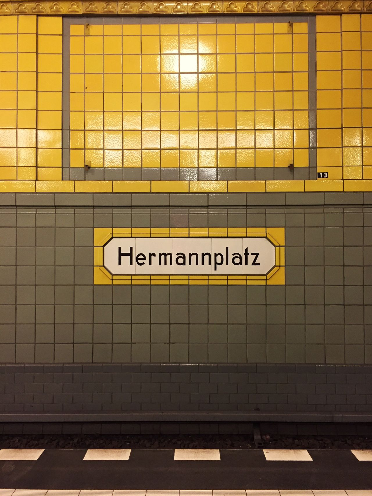 Yellow Berlin Hermannplatz Underground Tiles First Eyeem Photo
