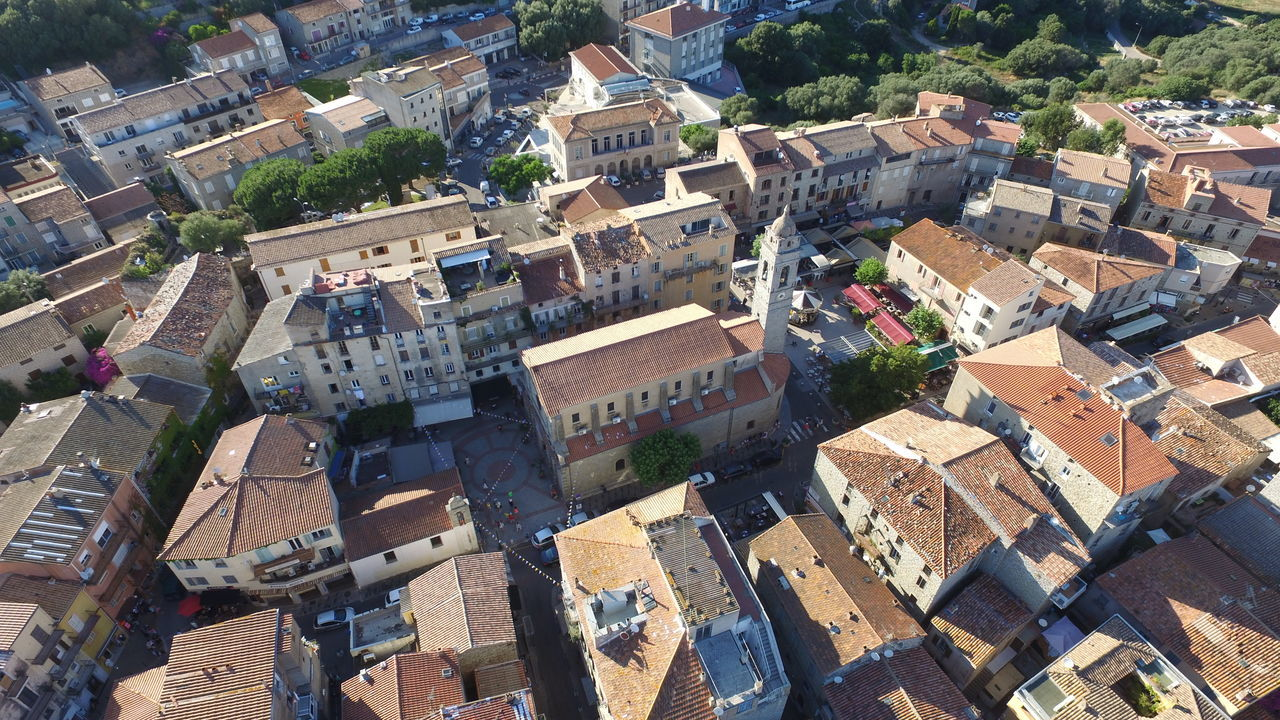 Old town of Porto-Vecchio Vieille ville de Porto-Vecchio Aerial View Architecture Church Corse Corsica Day Korsika No People Old Town Outdoors Porto-Vecchio Roof