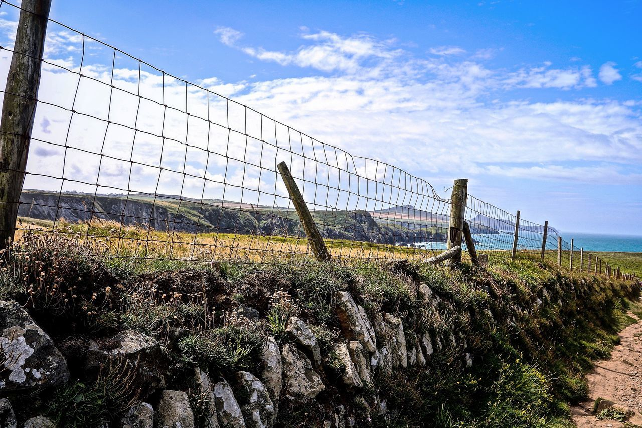 Agriculture Fence Field Nature Pembrokeshire Pembrokeshire Coast Rural Scene Sky Wales Wales❤