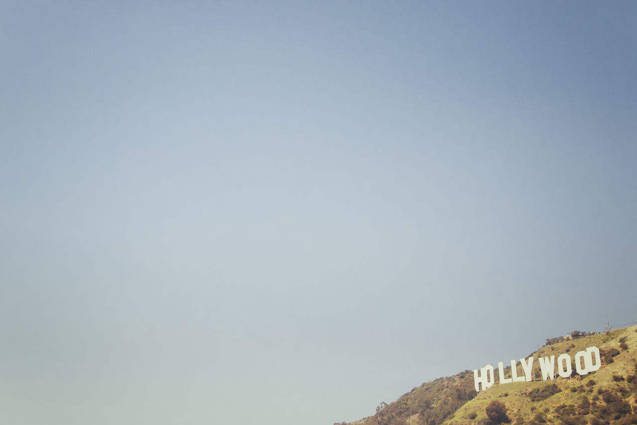 Beautiful stock photos of hollywood,  Blue,  Capital Cities,  Capital Letter,  Clear Sky